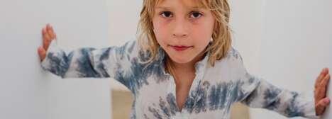 Funky Tie-Dyed Kid's Swimwear