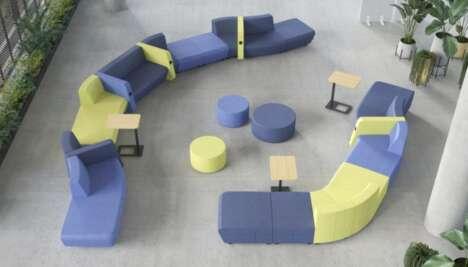 Block-Like Modular Office Sofas
