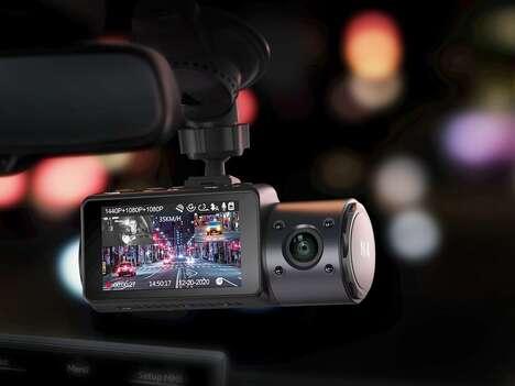 Triple-Camera Dash Cams