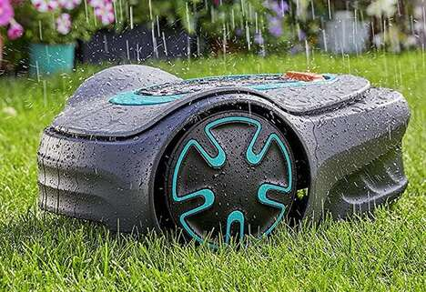 Small Space Robotic Lawnmowers
