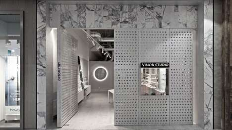 Concealed Gallery-Like Eyewear Stores