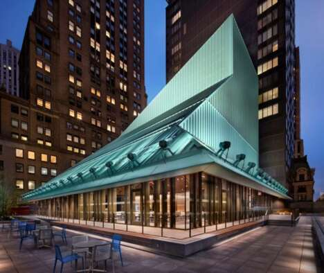 Sculptural Aluminium Building Crowns