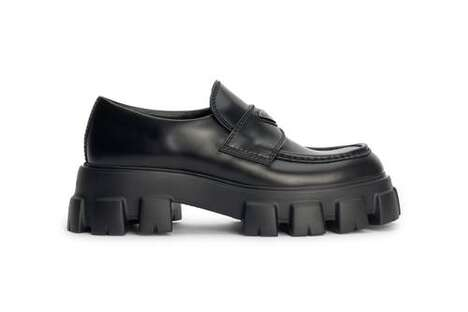 Platform Leather Luxe Loafers