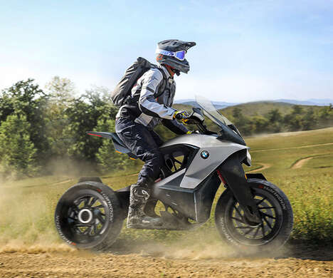 Drone-Equipped Explorer Motorcycles