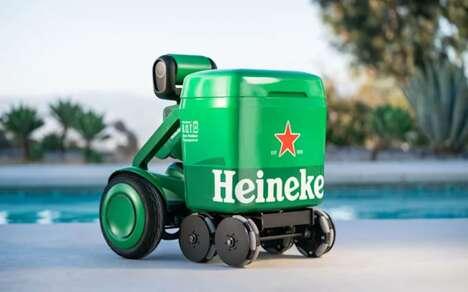 Beer-Branded Cooler Robots