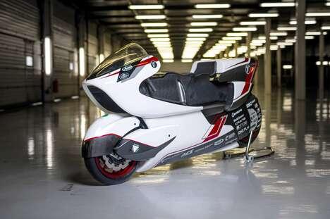 Hollow Aerodynamic Electric Motorcycles