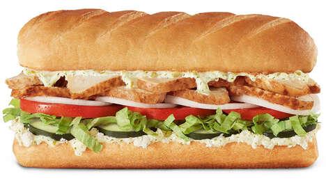 Greek Cuisine Sub Sandwiches