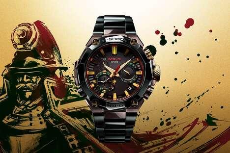 Luxe Samurai-Inspired Timepieces