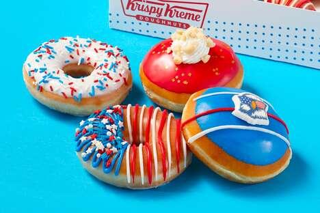 Stars-and-Stripes Doughnuts