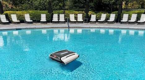 Robotic Solar-Powered Pool Cleaners