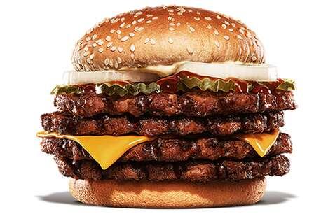 Quadruple Patty Teriyaki Burgers