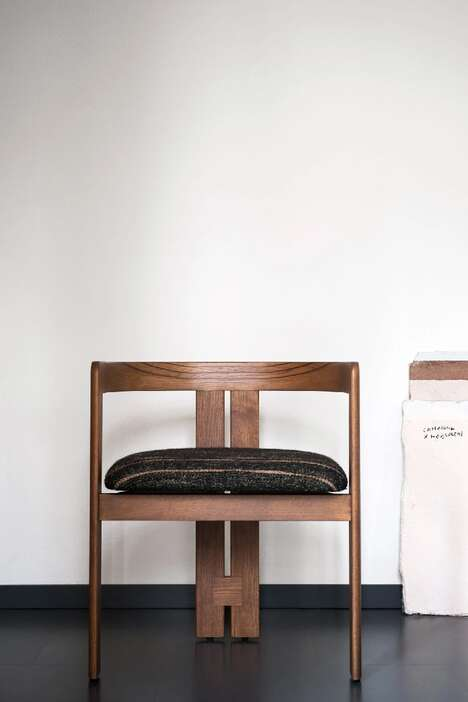 Symmetrical Wooden Chairs