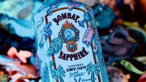 Artfully Adorned Gin Bottles
