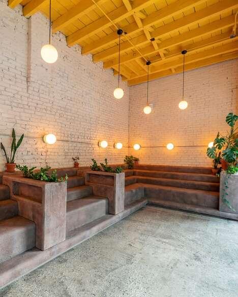 Brownstone Stoop-Inspired Cafes