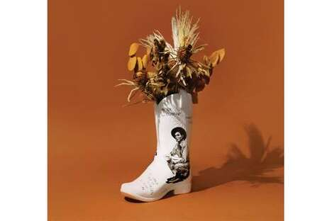 Cowboy Boot-Shaped Ceramic Vases