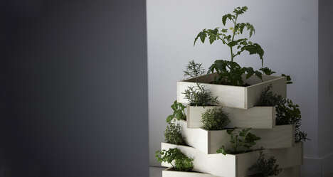 Compact Stackable Planters