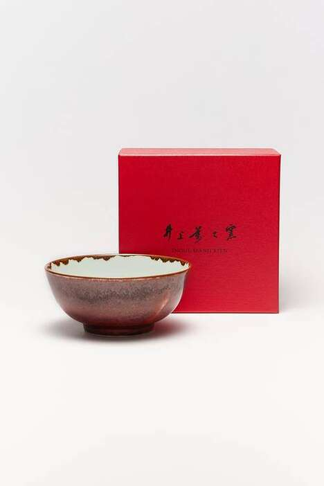 Colorful Sculpted Porcelain Bowls