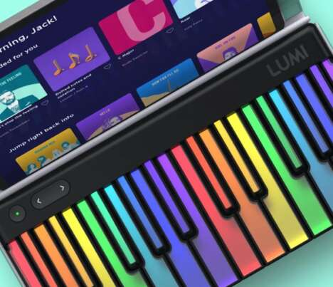 Luminescent Learning Keyboards