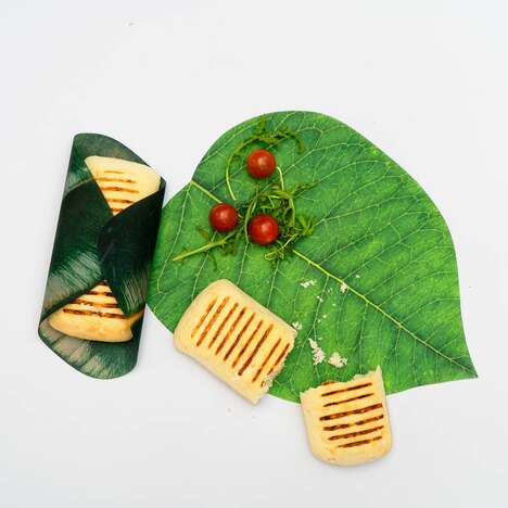 Naturalistic Leaf-Shaped Food Wraps