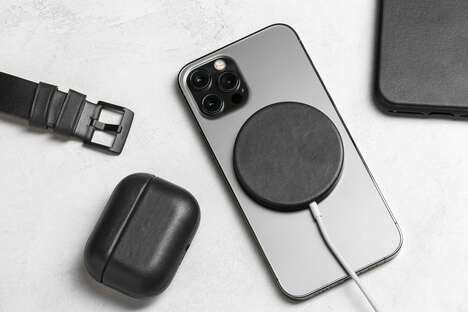 Leather-Made Magnetic Charger Covers