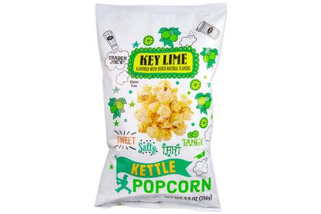 Key Lime Popcorn Snacks