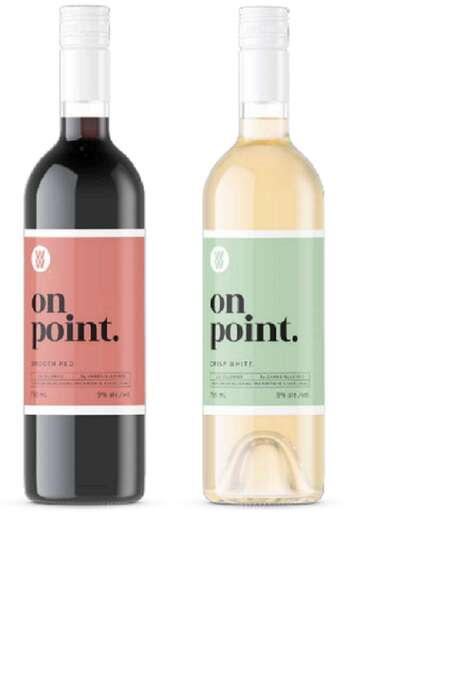 Health-Conscious Wine Labels
