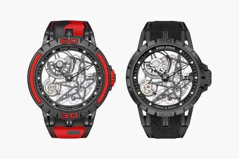 Tire Rubber-Accented Timepieces