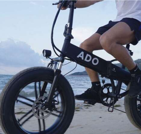Thick-Tired Collapsible E-Bikes