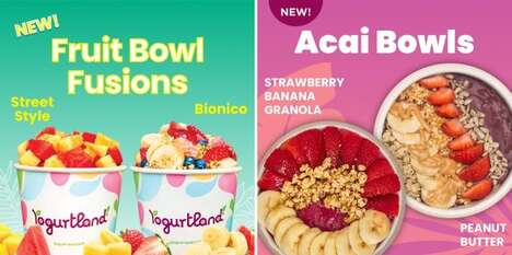 Summertime Frozen Yogurt Bowls