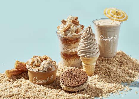 Churro-Flavored Ice Creams
