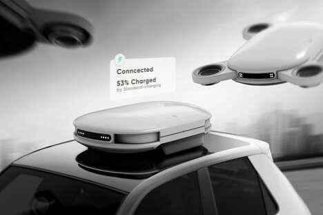 Aerial Vehicle Charging Drones