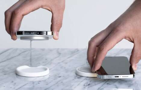 Magnetic Mobile Charger Coasters