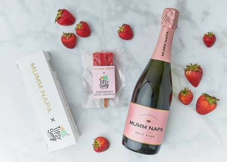 Rosé-Infused Popsicles
