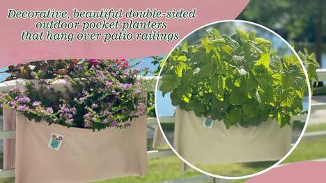 Double-Sided Outdoor Pocket Planters