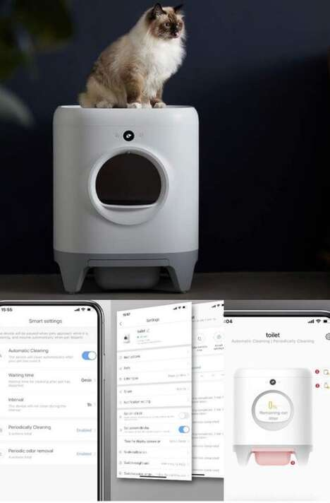 Connected Self-Cleaning Litter Boxes