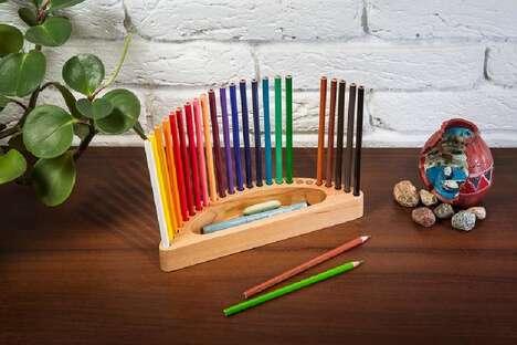 Ergonomic Colored Pencil Holders