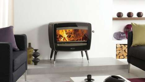 Vintage-Style Living Space Stoves