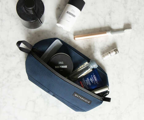 Water-Resistant Collapsible Toiletry Cases