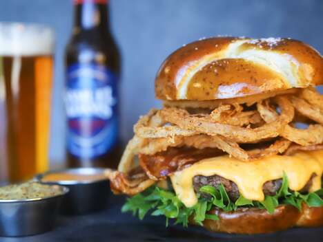 Beer Cheese-Covered Burgers