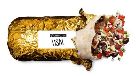 Gold-Wrapped Burritos