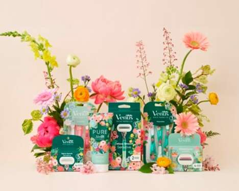 Florally Accented Razor Collections
