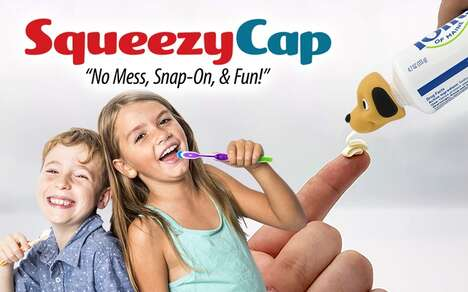 Playful Children's Toothpaste Caps