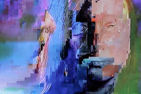 TV Signal Glitch Art