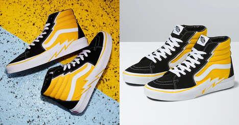 Thunderbolt-Adorned Sneakers
