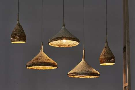 Growing Fungi Pendant Lamps