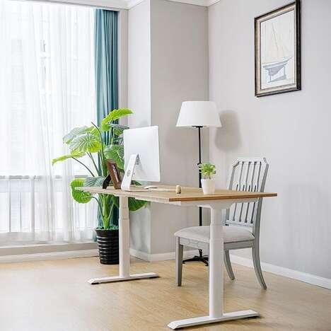 Bamboo Worktop Standing Desks