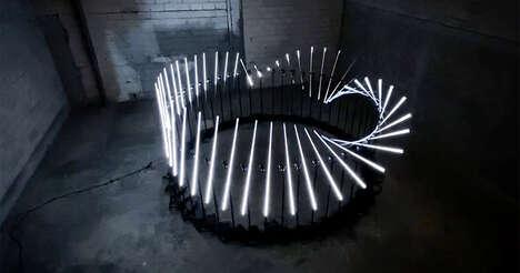 Music-Reactiv Light Installations