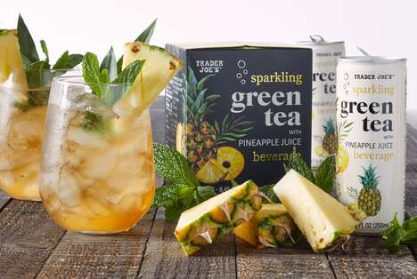 Tropical Green Tea Drinks