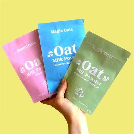 Hyper-Convenient Oat Milk Powders