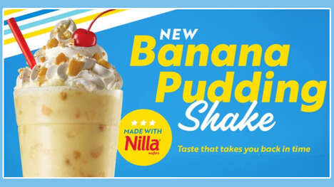 Pudding-Themed Milkshakes
